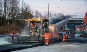 Macchine Wirtgen sulla A5 in Germania
