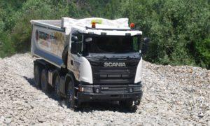 Transpotec: prova in cava (e su strada) con Scania
