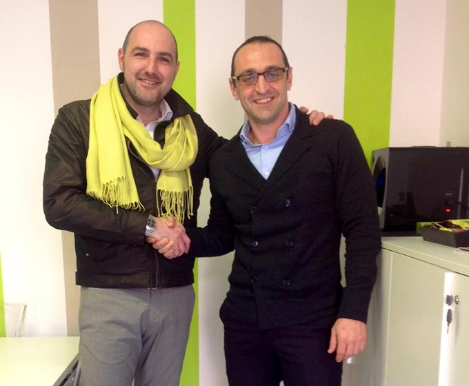 Da sinistra Andrea Artoni e Dario Cenci