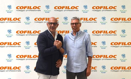 Da sinistra  Ivano Buso presidente Cofiloc spa e Amerino Zatta, presidente Benetton Rugby Treviso