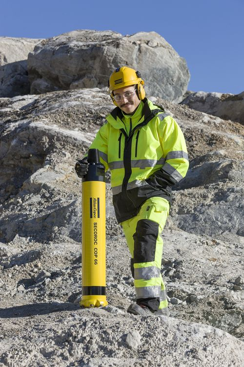 Secoroc sänkborrhammare COP 66 i stenbrottet