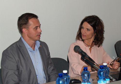 Niclas Olovsson con Elena Pallicelli