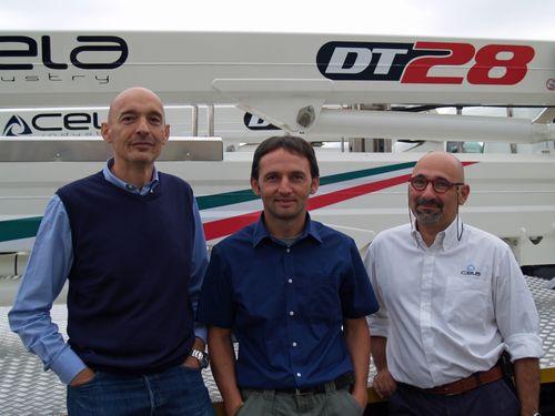 da sinistra Mauro Lanzani, Hawe, Tiziano Zugni e Andrea Antoniucci di Cela