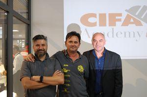 Da sinistra Marco Martini del Blog del Padroncino, Sandro Capaldi e Adriano Scarcella