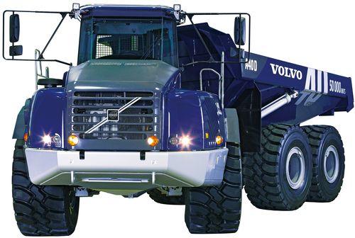Edizione speciale in livrea blu per il 50.000 dumper  Volvo nel 2006