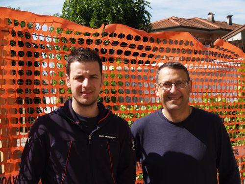 Andrea Facchinetti, AD di FG Costruzioni con, a destra, Giancarlo Festa, titolare CAM Service