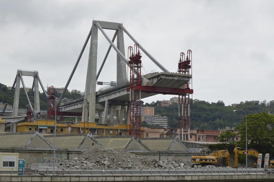 67.000 metri cubi di calcestruzzo per il ponte Polcevera